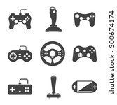 Joystick Icons Set. Video...