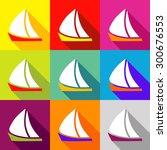 single flat style icon vector... | Shutterstock .eps vector #300676553