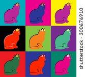 Pop Art Cat Silhouette