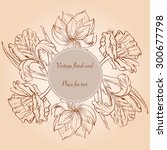 card with hand painted sketch... | Shutterstock .eps vector #300677798
