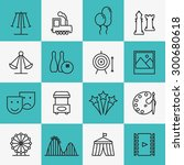 fun and entertainment icons.... | Shutterstock .eps vector #300680618