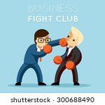 business fight club. boxing and ... | Shutterstock .eps vector #300688490