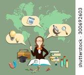 education training teacher...   Shutterstock .eps vector #300692603