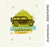 car outdoor mountain adventure. ... | Shutterstock .eps vector #300693440