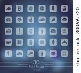 fast food modern icons for... | Shutterstock .eps vector #300695720