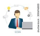 technical support man operator... | Shutterstock .eps vector #300696800
