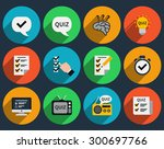 mind games and quizzes flat... | Shutterstock .eps vector #300697766
