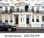 Small photo of LONDON, UNITED KINGDOM - JUNE 21, 2015: Elegant building in Notting Hill. Notting Hill is known for hosting the annual Carnival and being home to the Portobello Road Market.