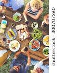 friends friendship outdoor... | Shutterstock . vector #300707360
