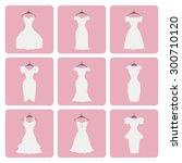 fashion wedding dresses.flat... | Shutterstock .eps vector #300710120