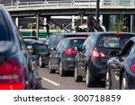 heavy london traffic on a busy... | Shutterstock . vector #300718859