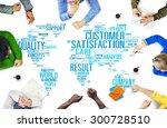 customer satisfaction... | Shutterstock . vector #300728510