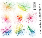 Set Of 8 Isolated Colorful...