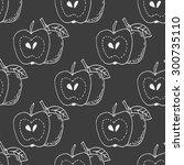 hand drawn apple vector... | Shutterstock .eps vector #300735110