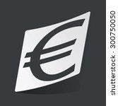 white sticker with black euro...