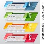 infographic banner. horizontal... | Shutterstock .eps vector #300752234