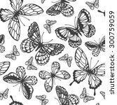 vector butterflies pattern.... | Shutterstock .eps vector #300759059
