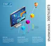 star tup process step by step.... | Shutterstock .eps vector #300761873