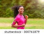 african american woman runner... | Shutterstock . vector #300761879
