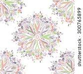 vector seamless ornamental lace ... | Shutterstock .eps vector #300765899