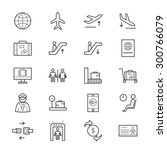 airport icons line | Shutterstock .eps vector #300766079