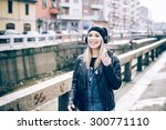 young beautiful blonde straight ... | Shutterstock . vector #300771110