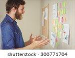 bearded hipster getting an idea ... | Shutterstock . vector #300771704