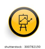 growth icon on yellow button...