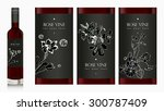 mock up bottle of wine. red ... | Shutterstock .eps vector #300787409