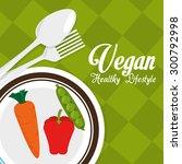 healthy food design  vector... | Shutterstock .eps vector #300792998