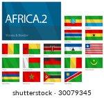 waving flags of african... | Shutterstock .eps vector #30079345