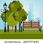 urban park design  vector... | Shutterstock .eps vector #300797690