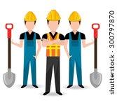 under construction design ... | Shutterstock .eps vector #300797870