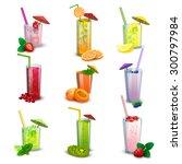 best summer long glasses fresh... | Shutterstock .eps vector #300797984