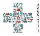 medicine and healthcare concept ... | Shutterstock .eps vector #300798614