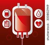 blood donation design  vector... | Shutterstock .eps vector #300802949