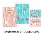 invitation and greeting card...   Shutterstock .eps vector #300804398