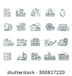 set of black marketing thin ... | Shutterstock . vector #300817220