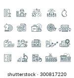 set of black marketing thin ... | Shutterstock . vector #300817220