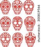 sugar skull   Shutterstock .eps vector #300819566