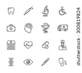 medical thin line icons | Shutterstock .eps vector #300819824