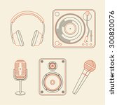vector music concepts in linear ... | Shutterstock .eps vector #300820076