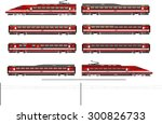 highspeed train | Shutterstock .eps vector #300826733