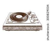 record player vinyl record.... | Shutterstock .eps vector #300829034