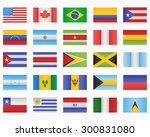 set of american countries flags   Shutterstock .eps vector #300831080