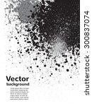 monochrome abstract vector...   Shutterstock .eps vector #300837074