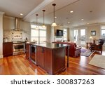 state of the art kitchen with... | Shutterstock . vector #300837263