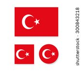 set of vector icons with turkey ...   Shutterstock .eps vector #300843218