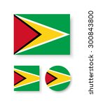 set of vector icons with guyana ... | Shutterstock .eps vector #300843800