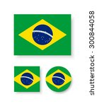 set of vector icons with brazil ...